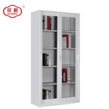 Móveis de escritório de aço de correr 2 porta de vidro armário de exposição de armazenamento de arquivo armário
