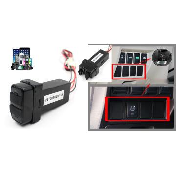 12V-24V 2.1A Dual USB Port Charger Socket for Mitsubishi