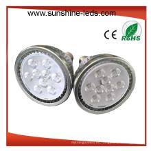 Regulable 9X2w Ámbar Color E27 PAR38 Proyector LED