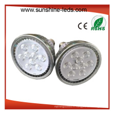 Dimmable 9X2w Amber Color E27 PAR38 LED Spotlight