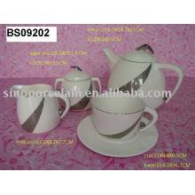 Conjunto de café de porcelana 15pcs para BS09202