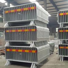 Barrières détachables de contrôle de foule en métal de jambe de haute qualité (certificat d'usine 9001 d'OIN)