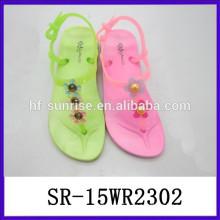 New design pvc summer sandals jelly women shoes ladies pvc sandals