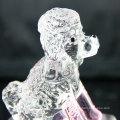 Barato venda quente top quality crystal dog estátua de vidro mini dog figurines atacado