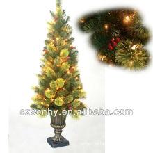 El alambre al aire libre 45inch encendió el árbol de navidad