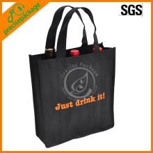 recycle pas cher non-tissé réutilisable sac à vin shopping