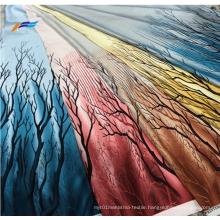 100% Polyester Flower Printed Bangladesh Abaya Satin Fabric