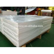 Folha de PVC branco opaco para jogar cartas