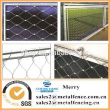 7X7 structure poisson fram corde treillis métallique en acier inoxydable treillis métallique maille net