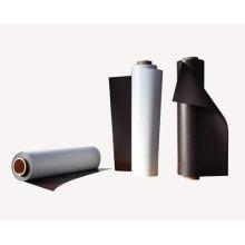 Imán de caucho isotrópico con PVC y capa UV