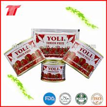 Hohe Qualität 70g und 210g Tomatenpaste von Yoli Marke