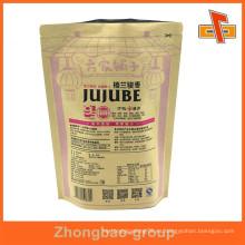 A prueba de humedad laminatged material personalizado resellable stand up bolsas de papel de café con la impresión