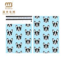 """Vibrierender farbiger Tiefdruck-Druckkundenspezifischer Hündchen-Designer 10 """"X 13"""" flache Polybriefkasten-Taschen-Post"""