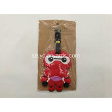 Cartoon Bagage Tag Silikon PVC Bagage Tag