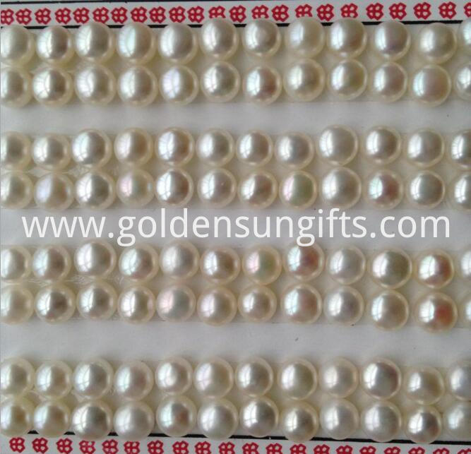 Flat Round pearl beads