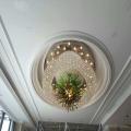 Большой размер Круглый люкс и морден Кристалл проекционная лампа для украшения отеля