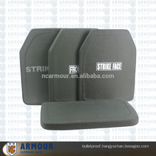 Curved bulletproof plate for body armor