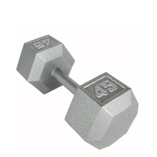 45LB ferro fundido Hex Dumbbell
