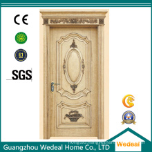 Classical White Veneer Cut Rift Painting Solid Wood Door