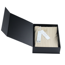Guangzhou packaging box supplier luxury magnetic matte black gift box for clothes packing
