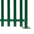 new curving design wpc composite wood palisade fence