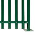 nouvelle conception incurvée wpc clôture en palissade en bois composite