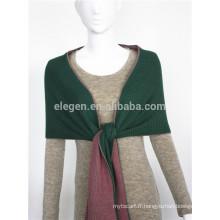 Écharpe acrylique tricotée à double couleur