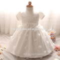 2017 new designs baby dress girls short sleeve laced infant dress for baptism and christening