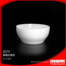Restaurant hotel oval shape ceramic fruit bowl for banquet