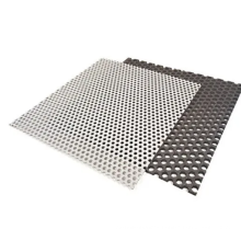 Suppliers of decorative mild steel metal perforated mesh sheet with small holes