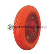 3.00-8 roues de brouette libres plates d'unité centrale avec la couleur de rayon