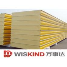Panel sándwich aislado de alta calidad y bajo costo para pared o techo