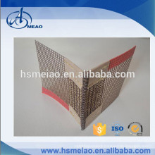 High temperature resistance PTFE Coated mesh conveyor belt with bull nose joints