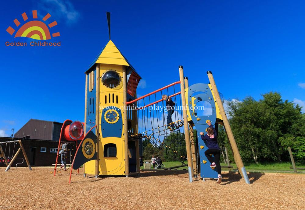 Hpl Mutiplay Outdoor Activity Tower Tube Silde Playground For Children