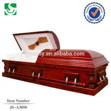 Escuro cereja madeira americana popular vendas cereja caixão