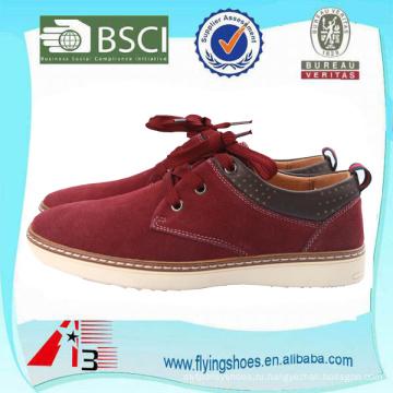 Подгоняйте стильные кожаные ботинки замши для мужчин