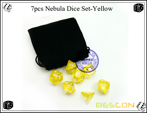7pcs Nebula Dice Set-Yellow-5