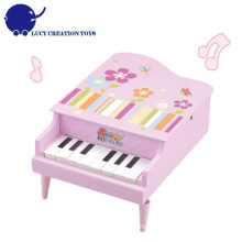 Girls Happy Play 8 Keys Wooden Pink Child Piano