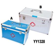 Nova chegada de alumínio kit caixa de primeiros socorros com opções de 2 tamanhos