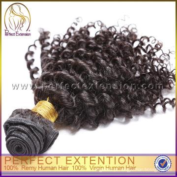 Pele mongol trama fita cabelo extensões Kinky humano cabelo Afro