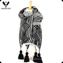 2016 Nouvelle foulard à main lourde à la main Crochet Echarpe épais Hang Fringe