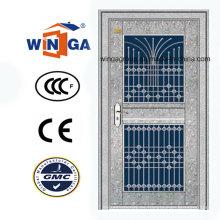 Impermeable exterior usando puerta de cristal de seguridad de acero inoxidable (W-GH-22)