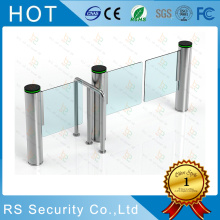 High Speed Turnstile Supermaket Glass Swing Gate