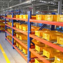 Industrial Storage Steel Carton Flow Through Gravity Shelf