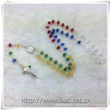 Plastic Colourful Beads Rosaries, Religious Rosary Bead, Rosary (IO-cr391)