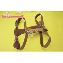 Flexible Head Layer Cowhide Leather Dog Harness Large Neck