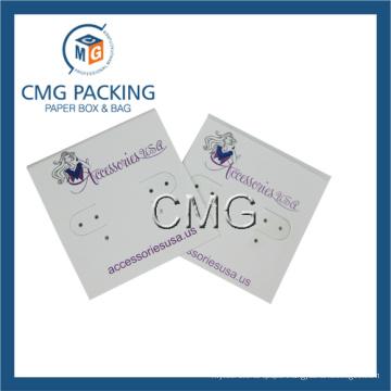 White Plastic Earring Card