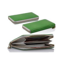 Leather Apple iPhone Case Shock Resistant Green Cellphone W