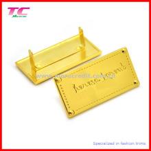Kundenspezifische Metall-Logo-Platte für Handtasche