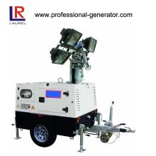 10/11 kVA Diesel Mobile Light Tower, Portable Lighting Tower Generator